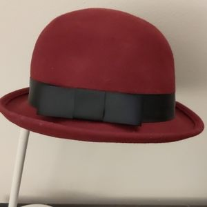 Women's vintage red Derby hat